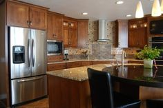 There is no place like home. Kitchen designed by Cherry Creek Cabinetworks.