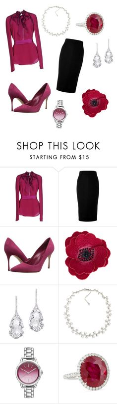 """""""Downton Abbey: Violet Crawly"""" by sweetumkitty ❤ liked on Polyvore featuring Tom Ford, Victoria Beckham, Sergio Rossi, Accessorize, Plukka, Carolee, Nine West and Bayco"""