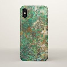 Green Mineral Stone iPhone X Case - photography gifts diy custom unique special
