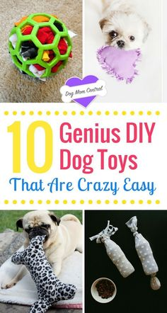 Dogs adore these DIY dog toys. The tutorials are insanely easy and create homema. - Dogs adore these DIY dog toys. The tutorials are insanely easy and create homemade dog toys that ke - Positive Dog Training, Training Your Dog, Training School, Best Dog Toys, Best Dogs, Homemade Dog Toys, Toy Puppies, Dalmatian Puppies, Dog Crafts