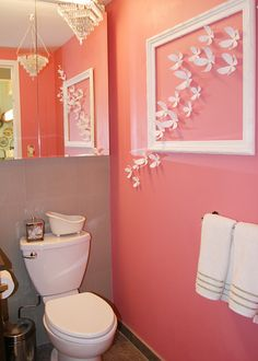Great idea for a girls bathroom it a little girls bedroom.  MadeByGirl: Meredith's NYC Apartment