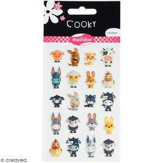 Compra nuestros productos a precios mini Pegatinas fantasía Cooky - Animales de la granja - 1 plancha de 7,5 x 12 cm - Entrega rápida, gratuita a partir de 89 € !
