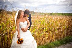 """""""Wedding in a corn field"""" by Jesse James Photography, via 500px."""