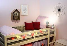 Offrez une touche déco surprenante et originale dans la chambre de votre enfant avec les guirlandes lumineuses coton GuirLED.