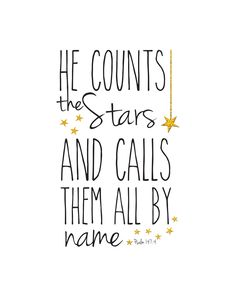 Verse of the month...print and post. This would be adorable in the nursery!