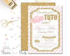 Tutu Birthday Invitations Ballerina Birthday by ForeverYourPrints