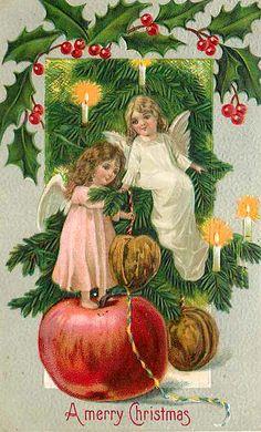"""""""A Merry Christmas"""". Vintage Christmas Postcard"""