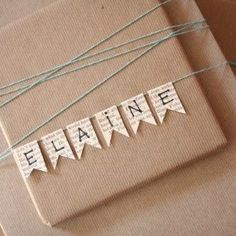 Crafts a la mode : Burlap and Brown Paper Gift Wrap Ideas
