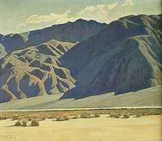 This is a photo of the Maynard Dixon painting titled Morning on the Inyo Range.