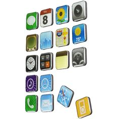 iPhone app magnets: Isn't this cool! If you are an iPhone fan just like me you need to have this!