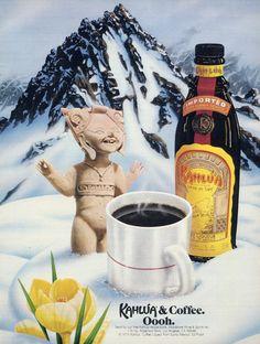 1979 Kahlua Coffee Liqueur Liquor Ad Statue by AdVintageCom