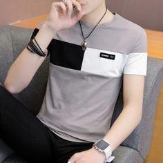 Men T Shirt Casual Short Sleeve Men's Basic Tops Tees Stretch T Shirt Mens Clothing Chemise Homme Cheap T Shirts, Casual T Shirts, Tee Shirts, Men Casual, Casual Outfits, Mens Summer T Shirts, Le Polo, Basic Tops, Shirt Price