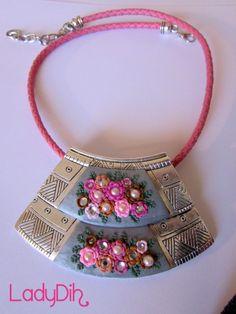 Fio curto feito em cerâmica plástica. Jewelry clay / fimo http://ladydih.blogspot.pt/ https://www.facebook.com/LadyDihh