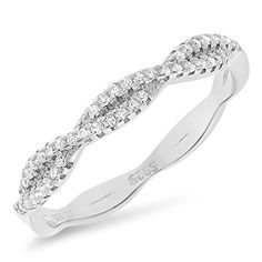 Sterling Silver Twisted Infinity Band Ring with Cubic Zirconia 6 >>> To view further for this item, visit the image link. (This is an affiliate link) #FashionRings