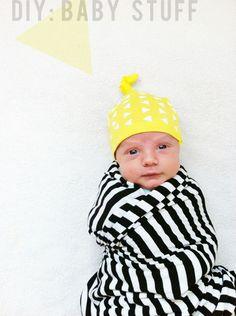 DIY baby knot hat tutorial. elizabethkartchner.com