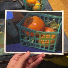 Basket of mandarins.