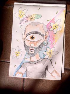 Rafa Ciclope ❤️  Vejo flores em vocês   #ilustration #ilustração #aquarela #arte #drawing #draw #art #watercolor #painting #pintura #desenho #a3 #arteindependente #ink #tinta #rabiscos #aquarela #ciclope #cyclops