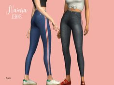 Naiara jeans by Laupipi for The Sims 4 The Sims 2, Sims Four, Sims 4 Mm Cc, Sims 4 Cas, Sims 1, Maxis, Los Sims 4 Mods, Pelo Sims, Sims4 Clothes