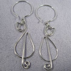 cats earrings sterling silver cat earrings by cloverleafshop, $19.00