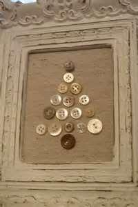 primitive button ornament