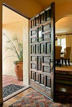 HUGE antique Spanish entry door