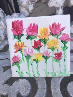 Flower Tile Painting