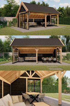 Outdoor Kitchen Patio, Outside Patio, Outdoor Living Areas, Outdoor Rooms, Backyard Layout, Backyard Pavilion, House Design Photos, Backyard Playground, Cottage Design