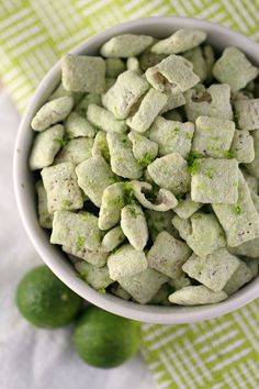 Enjoy the taste of Key Lime Pie with these super easy Key Lime Muddy Buddies!