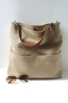 30 Handmade Etsy Finds We LOVE #refinery29  http://www.refinery29.com/best-nyc-etsy-stores#slide16  Independent Reign Jute Beach Bag, $138, available at Etsy.