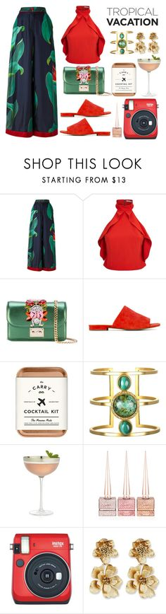"""Untitled #456"" by cristinachioseaua ❤ liked on Polyvore featuring F.R.S For Restless Sleepers, Alice + Olivia, GEDEBE, Joe's Jeans, The Mason Shaker, Crate and Barrel, Christian Louboutin, Fuji and Oscar de la Renta"