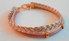 Golden pink armband van www.tinytreasures.nl