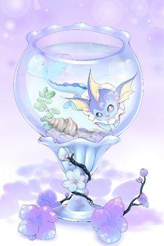 Eeveelution Vaporeon Evolução Dos Pokemons, Tableau Pokemon, Pokemon Mignon, Eevee Evolutions, Pokemon Eeveelutions, Pokemon Tumblr, Pokemon Fan Art, Cute Pokemon, Pokemon Go