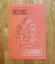 Reversible Cowboys & Indians Film Festival poster by Andrew Colin Beck