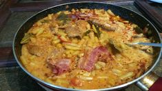 Hungarian Recipes, Pork Chops, Paella, Thai Red Curry, Food And Drink, Chicken, Cooking, Ethnic Recipes, Red Peppers