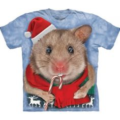 Christmas Mouse T-Shirt - Best ideas for Christmas Presents 2013 - T-Shirts by The Mountain - Clothing for Christmas - Funny christmas clothes - Christmas presents for kids - cute christmas presents - christmas t-shirts for women and men Christmas Presents For Kids, Christmas Cats, Christmas Humor, Christmas And New Year, Christmas Holidays, Merry Christmas, Xmas, Funny Christmas Outfits, Christmas Clothes