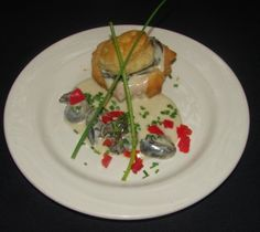 Escargot in a Puff Pastry with a Maytag Bleu Cheese sauce $8.95  #TheVeranda #DowntownFortMyers #SouthwestFlorida #FortMyers #finedining #southerncuisine #food #appetizers #escargot