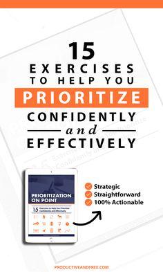 Prioritization On Point eBook | ProductiveandFree.com