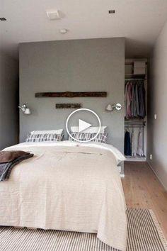 dressing-armoire-derrière-lit (7) #chambreacoucher #decorationdechambreacoucher
