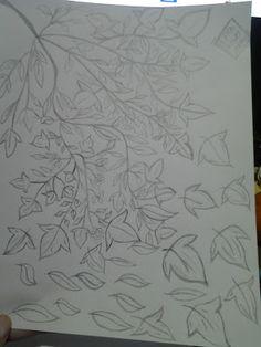 Canto da =Domino(: #Desenhando: Folhagens
