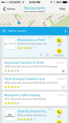 Pages Jaunes - Application mobile via http://www.ourfamilyworld.com/2014/05/19/new-yellow-pages-app-review/