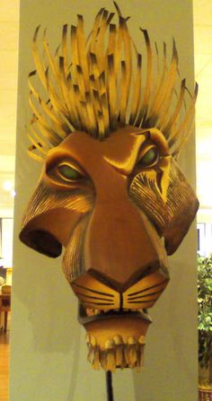 Scar Face Lion Mask, from the Lion King musical by Disney.