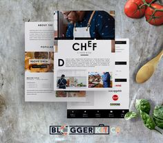 Chef - 3PG Media Kit Template by Blogger Kit Co. on @creativework247
