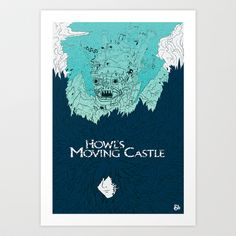 Howl's Moving Castle Art Print by andbloom - $14.00