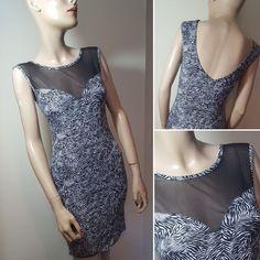 Atmosphere Size 10 Zebra Animal Print Dress Bodycon Stretch Summer Festival Mini #Atmosphere #StretchBodycon #Party