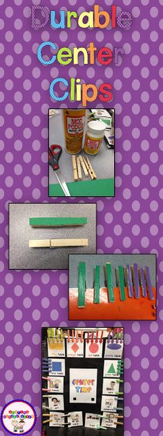 Use this tip to make the durable chart clips for classroom use. These clips lasted me ALL year!