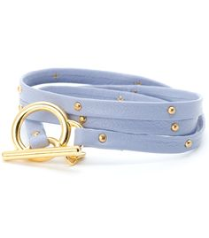 Pastel Leather Studded Wrap