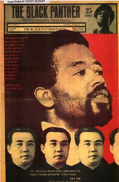 Juche in the United States: The Black Panther Party's Relations with North Korea, Communist Propaganda, Propaganda Art, Black Panthers Movement, Black Panther Party, Political Posters, Power To The People, Black Letter, Age, Black Power