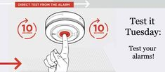 Test-it Tuesday: Check your Smoke Alarms and Carbon Monoxide Alarms today!