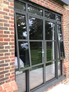 """In Wimbledon, we just supplied and installed #Smart #Heritage47 aluminium windows and doors in RAL 7022 matt #aluminiumwindow #aluminiumdoor"""