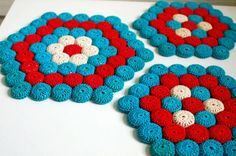 Mid Century Crochet Hexagon Trivet Hotpad by TheVintageSouth, $26.00